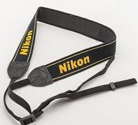 Original Nikon Trageriemen Carrying strap Tragegurt schwarz black extra breit