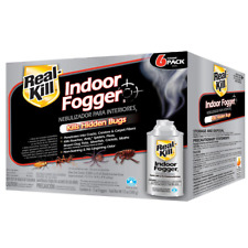 REAL KILL Indoor Fogger 6-Pack Odorless Home Pest Bug Control Spider Roach Flea