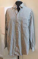 Bobby Jones Medium Long Sleeve Button Down Brown & Black Plaid Shirt