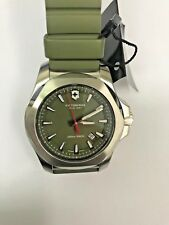 *Used* VICTORINOX Swiss Army INOX Green Dial Green Rubber Men's Watch 241683.1