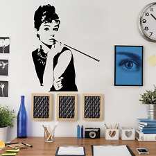 AUDREY HEPBURN Wall Decal Stickers Home room Decor Art Removable (M)