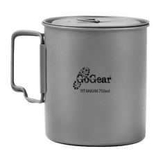 GoGear Ultralight 750ml Titanium Camping Pot Portable Water Mug Outdoor Hiking
