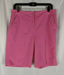 EP Pro Sz 8 Women's Pink Bermuda Length Golf Shorts