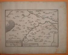 TAS 002 TASSIN 1634 BOURGOGNE - ANTIQUE PLAN GOUVERNEMENT DE DIJON