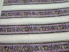 By yard hand block print cotton garment dress use fabric border print MKHRFGT60