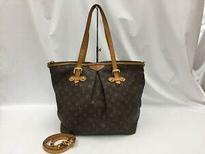 "Auth Louis Vuitton Monogram Palermo GM 2ways Shoulder tote bag 1C240130n"""