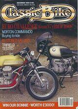 Classic Bike 89-12  Moto Guzzi V7 BMW R90S Velocette Valiant Commando Trifield,