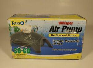 Tetra Whisper Air Pump The Shape of Silence for 30-60 Gallon Aquariums New