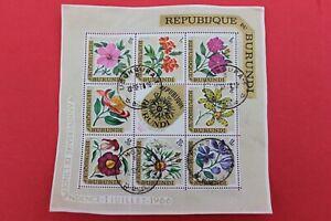 BURUNDI stamp  FLOWERS SHEET
