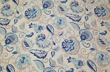 "RICHLOOM AMBIENCE COASTAL BLUE FLORAL COTTON MULTIUSE FABRIC BY THE YARD 54""W"