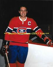 JEAN BELIVEAU Le Gros Bill POSED 8x10 Photo MONTREAL CANADIENS HOF GREAT WoW