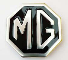 MGB & MG Midget Silver & Black Rear Metal Boot Badge CHA545, British Made JF6454