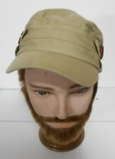 Roxy Uni Sex  Beige Miltary Cotton Buckle Style Cap Hat