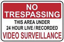 NO TRESPASSING -Video Surveillance  SIGN- #PS-407