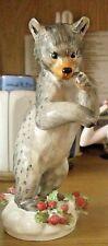 More details for rare vintage crown staffordshire bear barbara linley adams 14cm