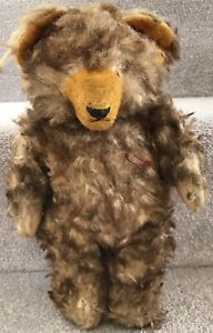 Antique Vintage Hermann Type Tufted Tipped Fur Jointed Teddy Bear Needs TLC