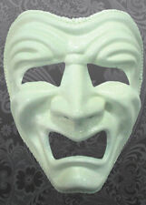 Deluxe White Tragedy Masquerade Mask