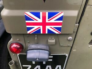 ARMY LAND ROVER WOLF UNION JACK FLAG STICKERS x2 MILITARY VEHICLES light