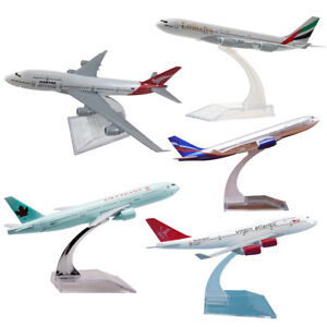 UK 747 Metal Diecast Plane Model Aircraft Boeing Airlines Aeroplane Desktop Toy