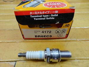 NGK BR8ECS #4172 SKI DOO YAMAHA SPARK PLUGS  NEW BOX OF10