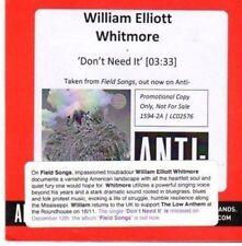 (CE78) William Elliott Whitmore, Don't Need It - 2011 DJ CD