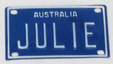 JULIE NOVELTY NAME MINI TIN AUSTRALIAN LICENSE NUMBER PLATE