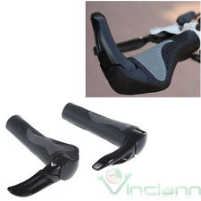 2 manopole in gomma alluminio per manubrio bicicletta bici manopola corsa nera