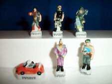 ACTION MAN Set of 6 Miniature French Porcelain FEVES Figurines Epiphany Figures