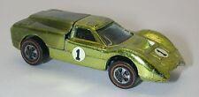 Redline Hotwheels Lime Yellow 1968 Ford J Car oc6301