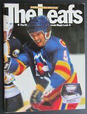 1982 Maple Leaf Gardens 50th Anniversary NHL Program Toronto vs Colorado Rockies