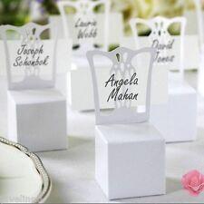10 Boites dragée chaise blanche et marque place décoration mariage/bapteme