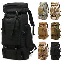 80L Outdoor Military Tactical Camping Hiking Trekking Backpack