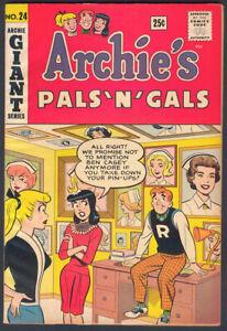 Archie Comics ARCHIE'S PALS 'N' GALS #24 VG/FN 1963, No Reserve!