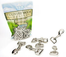 50 -  Country Brook Design® 1 Inch Swivel Snap Hooks