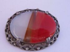 Agate Silver Vintage Costume Jewellery (Unknown Period)