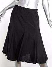 PRADA Womens Black High-Waist Fit-Flare Pleated Knee-Length Wool Skirt 8-44