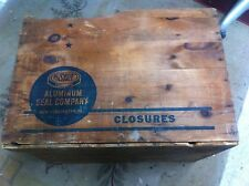 Vintage Aluminum Seal Co Shipping crate wood wine closuer box coffee table