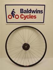 700c REAR Hybrid Bike / Cycle Wheel BLACK Alloy Rim + 7 SPEED FREEWHEEL
