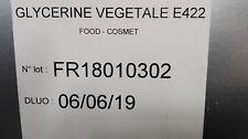 GLYCERINE VEGETALE 99.5% PURE ALIMENTAIRE E422  0.5L
