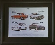 Sporting Fords - Escort mk III -V RS Stunning Framed Print RS TURBO/XR3-i/RS1600
