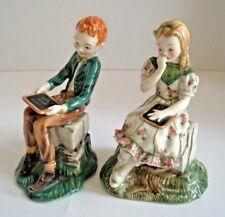 Gort Bone China Pottery ~ Tom Sawyer & Becky - I Love You - PRIOLO ~ American