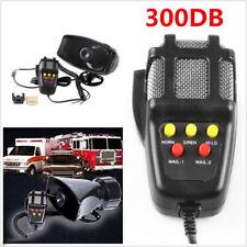 Car Truck Electric Air Horn Siren Speaker 5 Sound Tone Super Loud 300DB With Mic