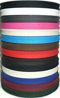 """COTTON BIAS BINDING TAPE FOLDED, 1/2"""" 33MTR ROLL, VARIOUS COLOURS, FREE P&P"""