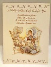 Vintage 1979 Holly Hobbie American Greeting Card Embroidery Tea Napkin Pattern