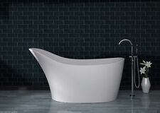 Bathtub Freestanding - Solid Surface Bathtub - Modern Luxury Tub - Lazzari - 67""