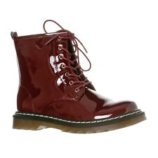 Riverberry Red Burgundy Combat Boots, Size 7