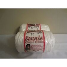 Pepperell Polyolefin Fiber Bonnie Macrame Craft Cord 6 Mmx 100 Yard-white -