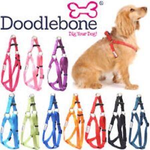 Doodlebone Bold Adjustable Nylon Dog Puppy Harness Cool Colours and 5 Sizes
