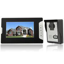 """7"""" Wired Video Door Phone Doorbell Intercom Kit 1-Camera 1-Monitor Night Vision"""