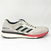 Adidas Mens Adizero Boston 7 B37381 White Black Running Shoes Lace Up Size 13